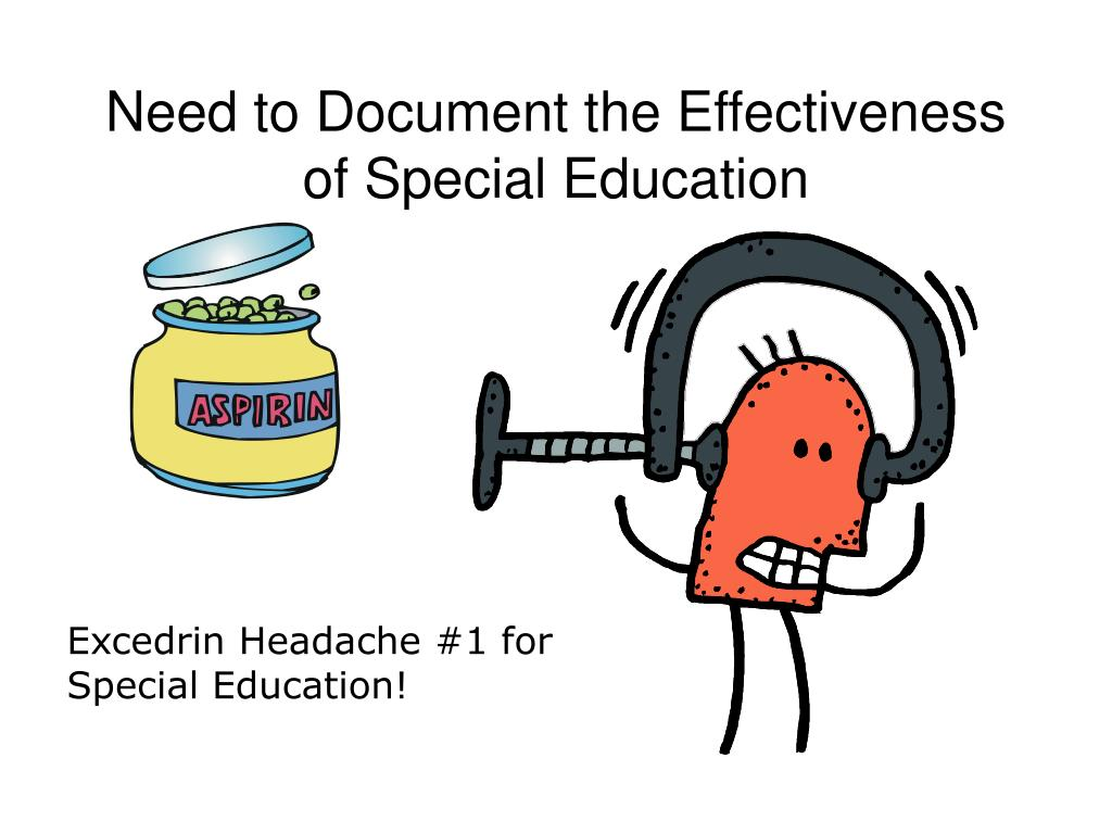 Need to Document the Effectiveness of Special Education