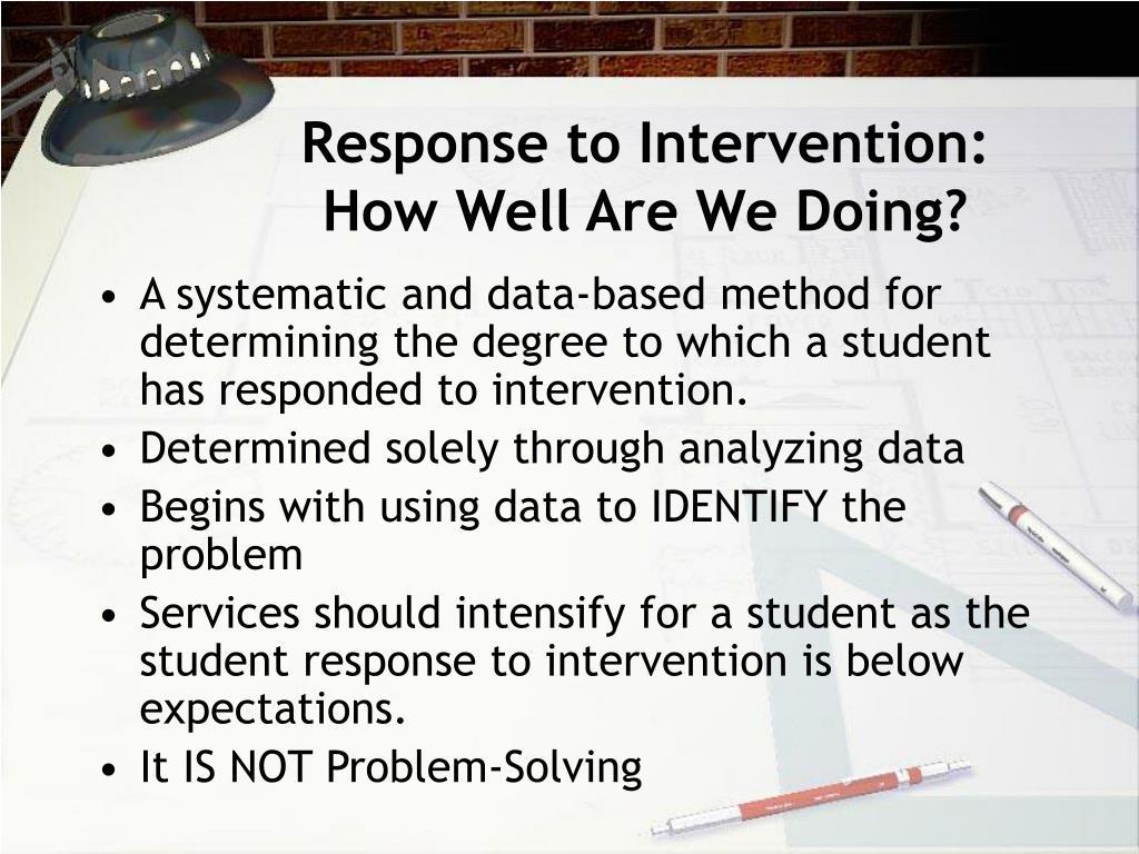 Response to Intervention: