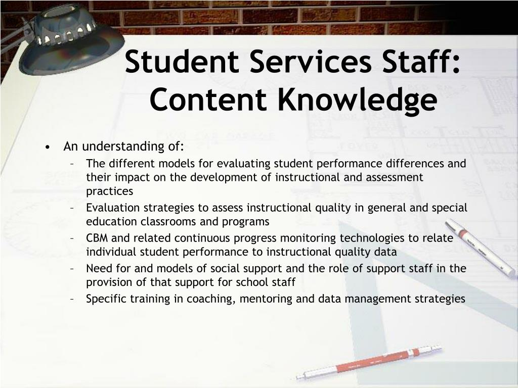 Student Services Staff: