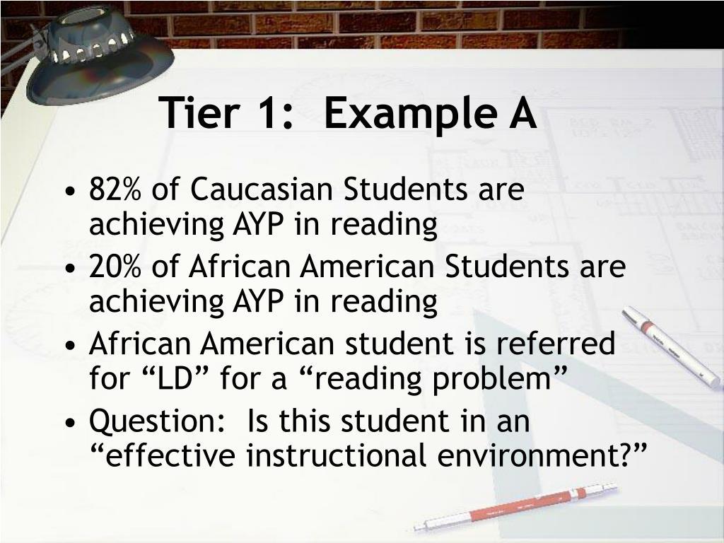 Tier 1:  Example A