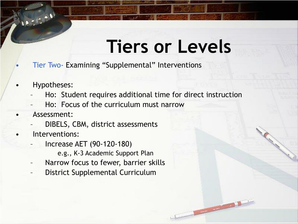 Tiers or Levels