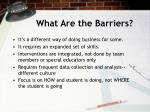 what are the barriers