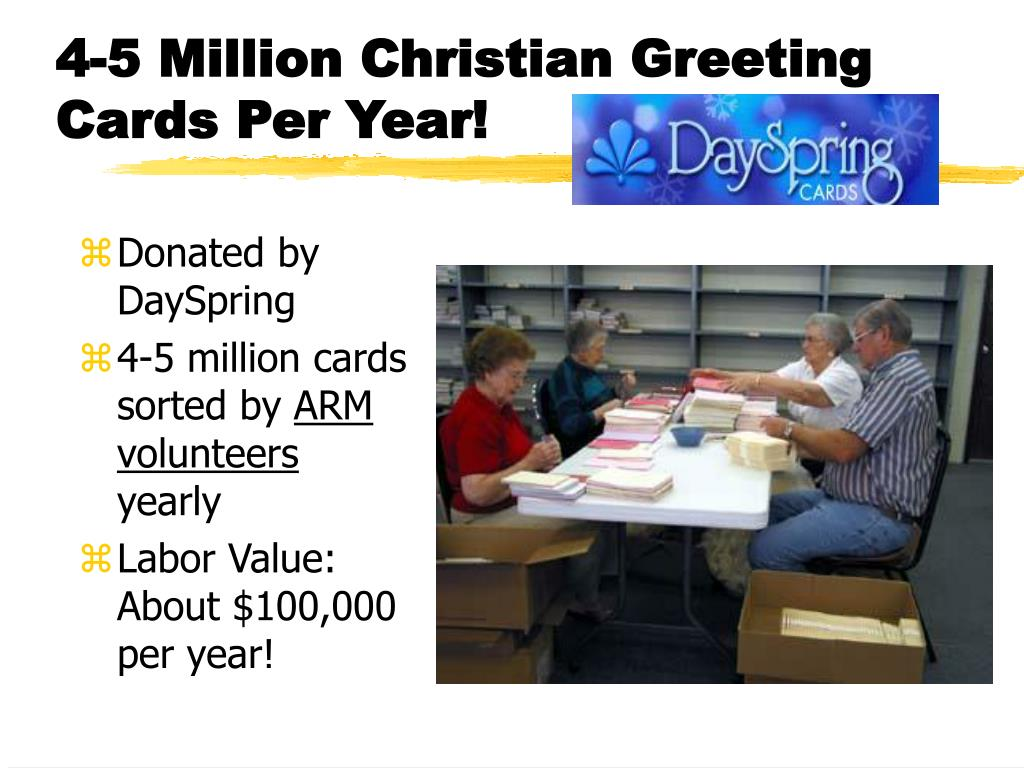4-5 Million Christian Greeting Cards Per Year!