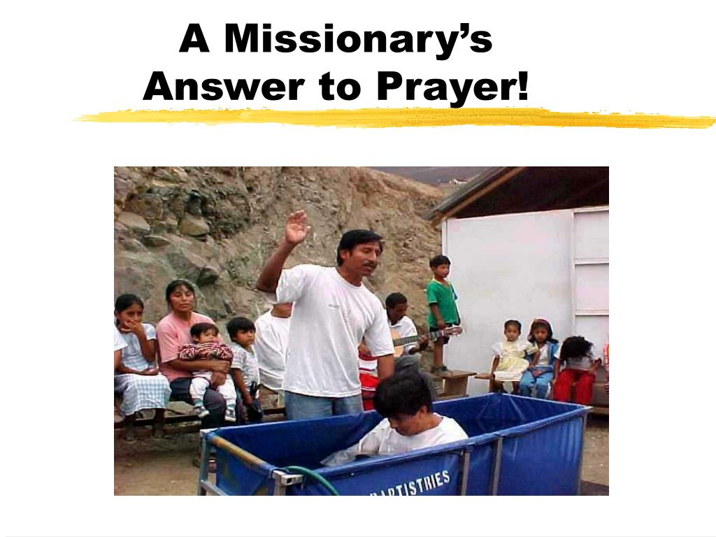 A Missionary's