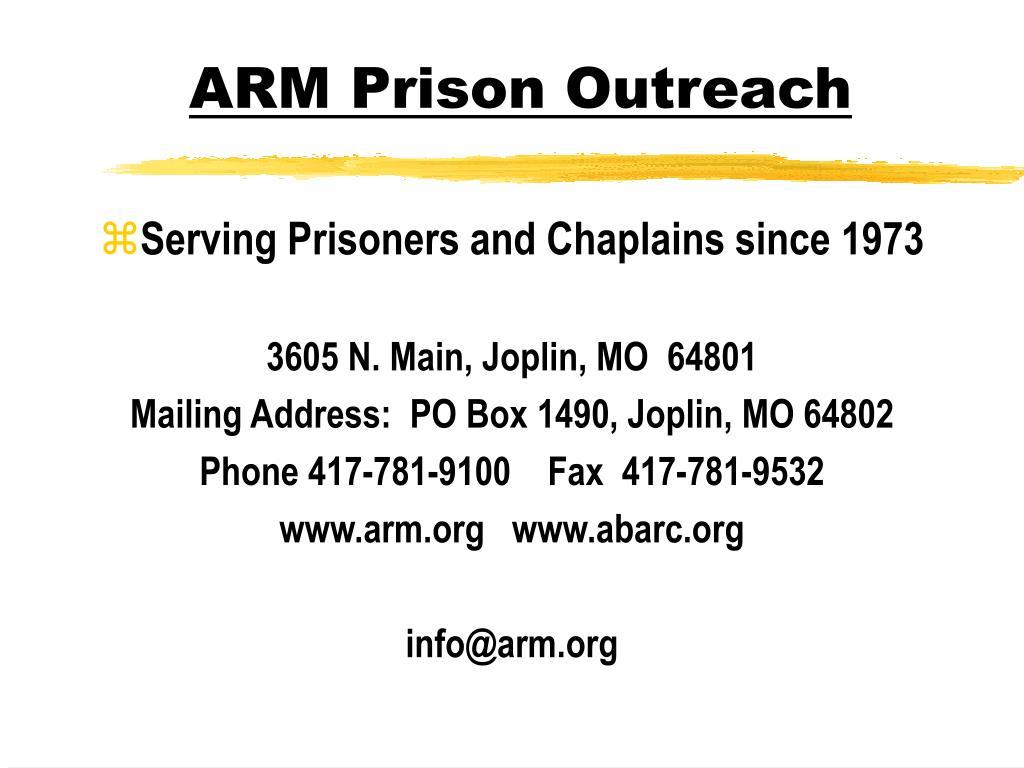 ARM Prison Outreach
