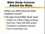 bible study courses behind the walls