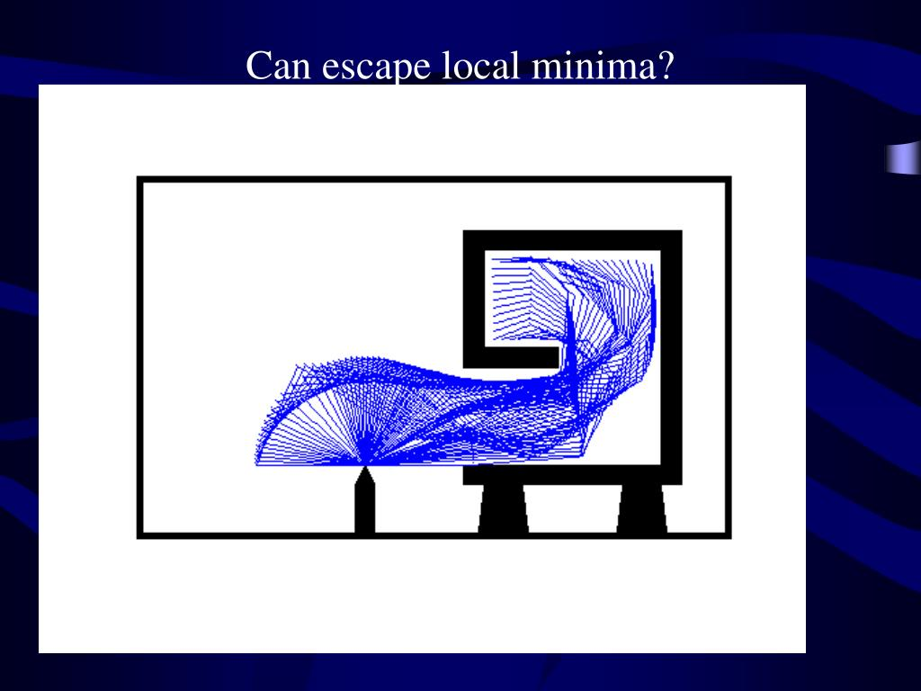 Can escape local minima?