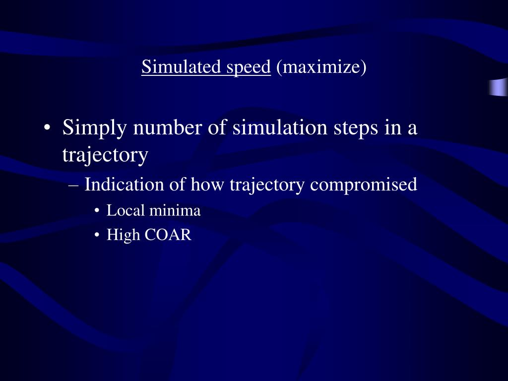 Simulated speed