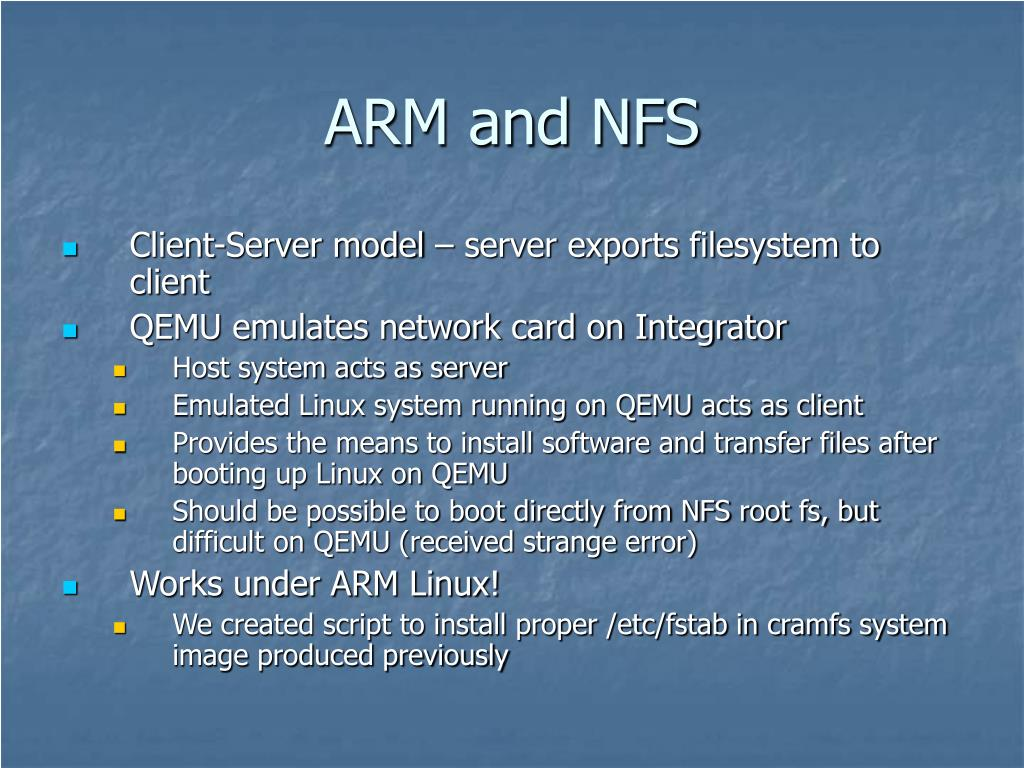 ARM and NFS
