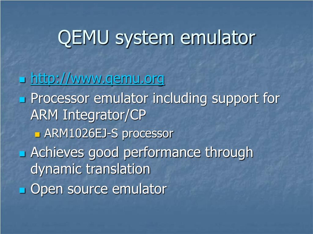 QEMU system emulator