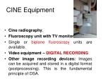 cine equipment