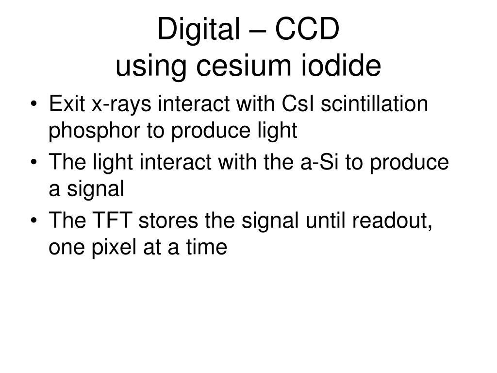 Digital – CCD
