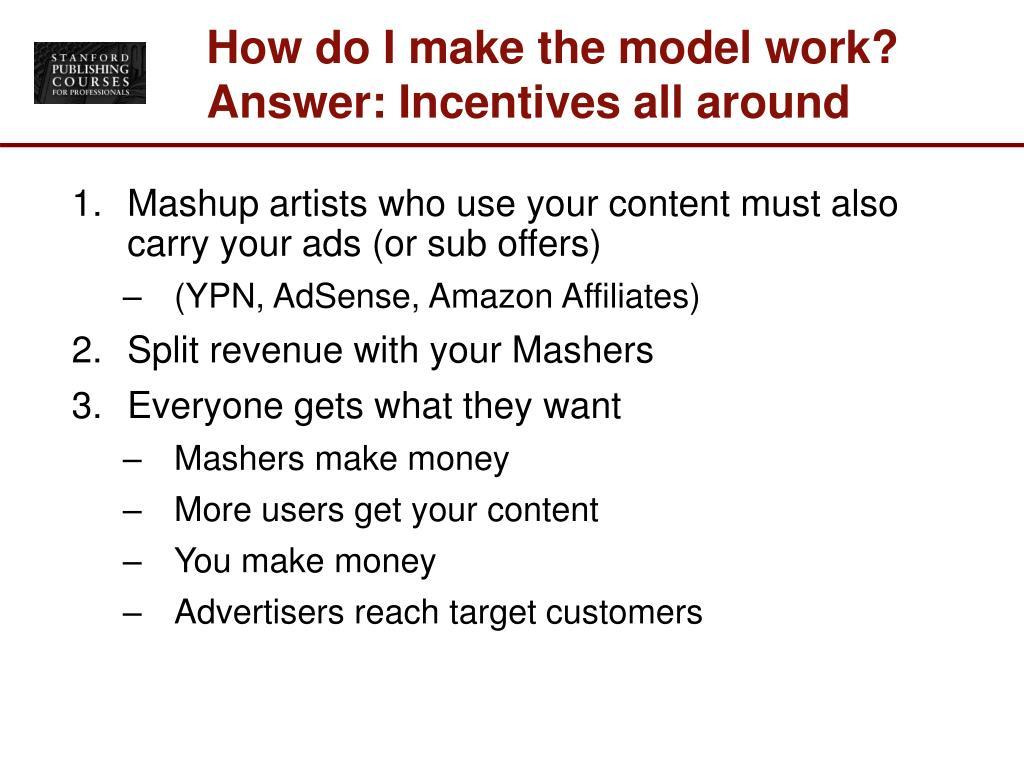 How do I make the model work?