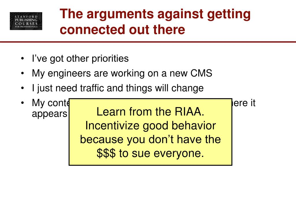 The arguments against getting connected out there