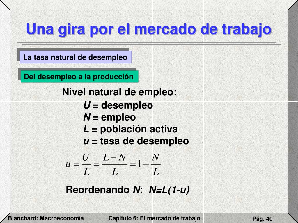 Nivel natural de empleo: