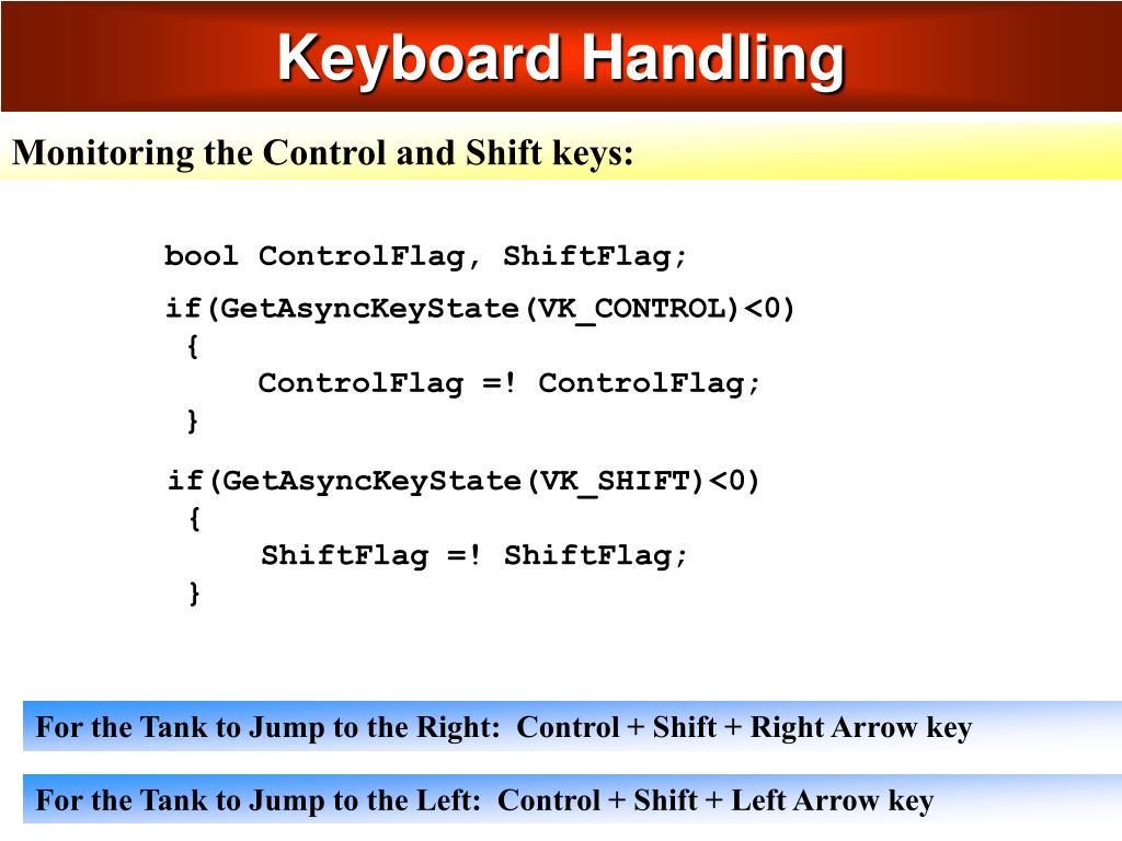 Keyboard Handling