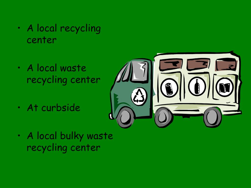 A local recycling center