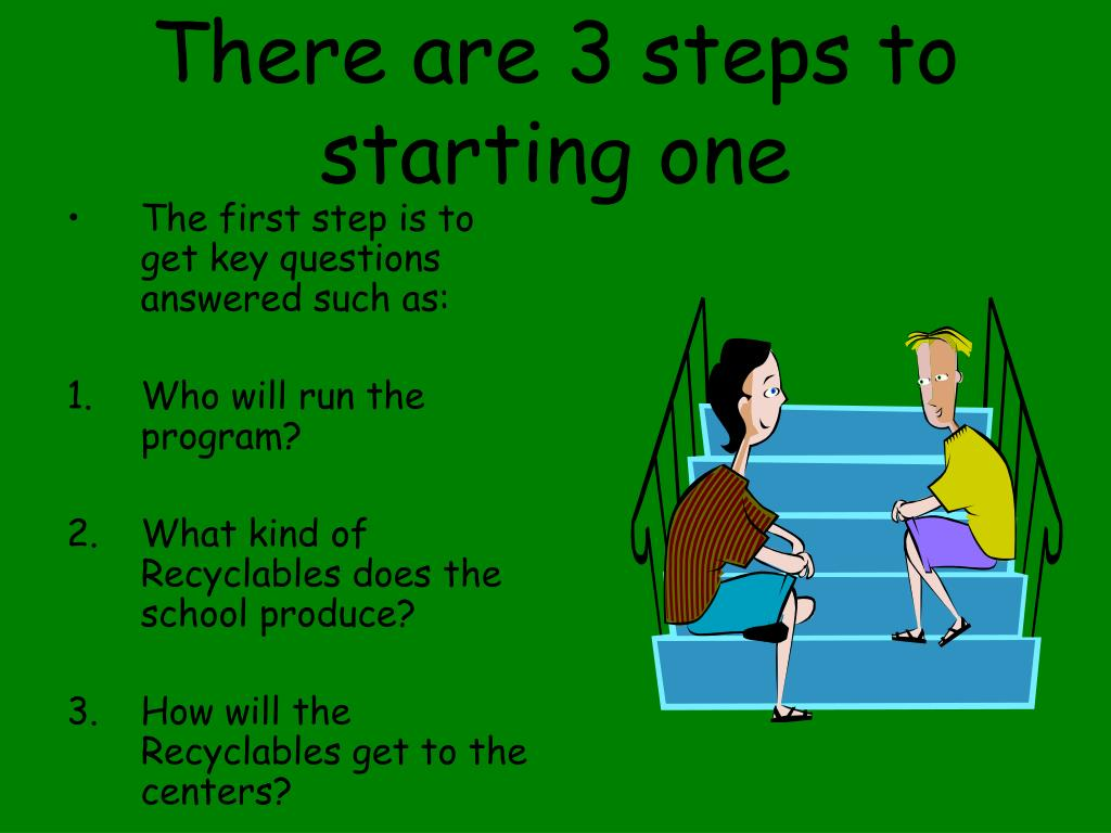 There are 3 steps to starting one
