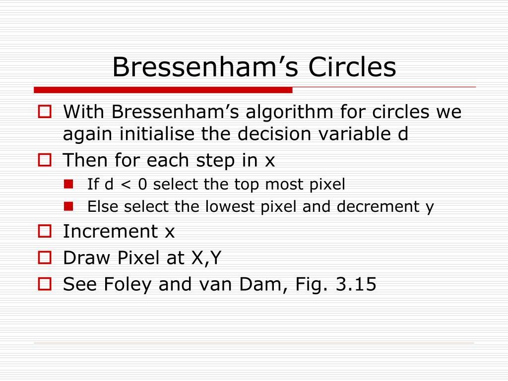 Bressenham's Circles