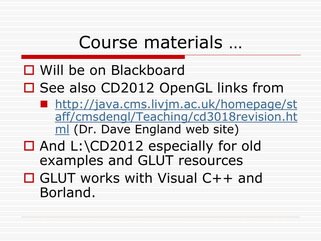 Course materials …