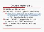 course materials10