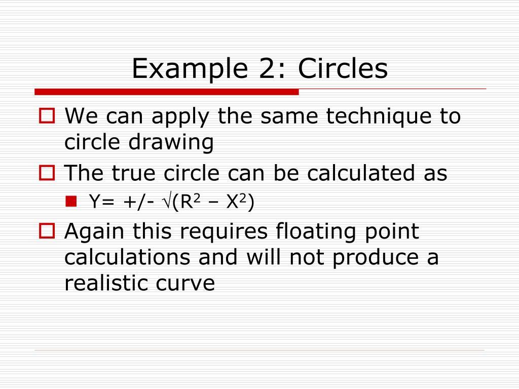 Example 2: Circles