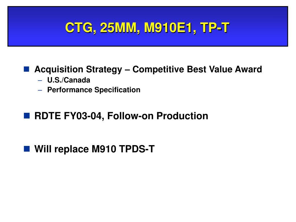CTG, 25MM, M910E1, TP-T