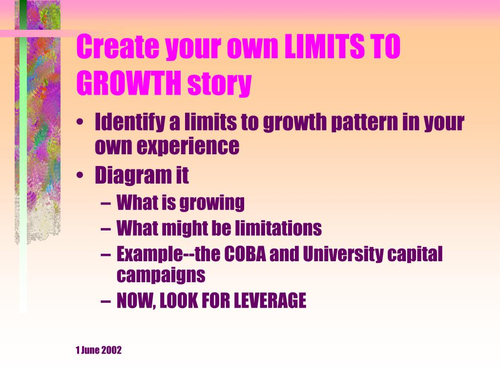Create your own LIMITS TO GROWTH story