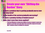 create your own shifting the burden story