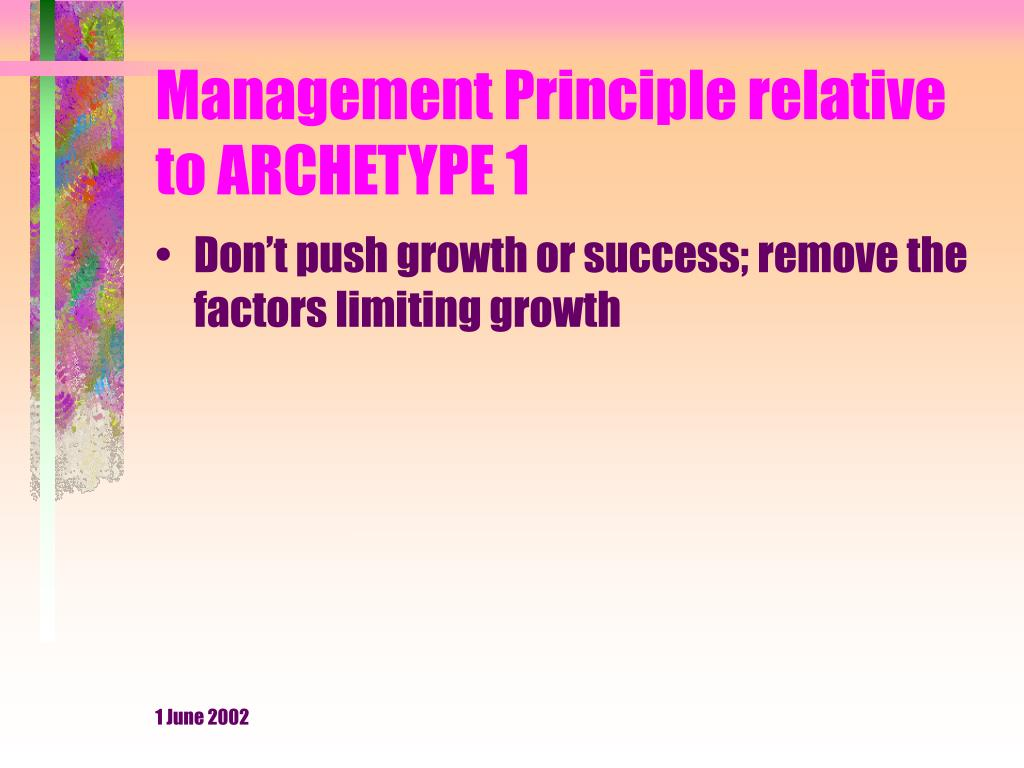 Management Principle relative to ARCHETYPE 1