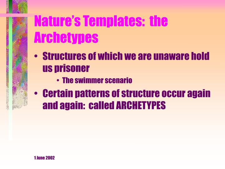 Nature s templates the archetypes