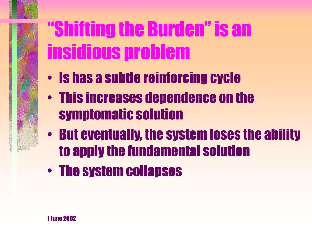 """Shifting the Burden"" is an insidious problem"
