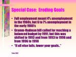 special case eroding goals