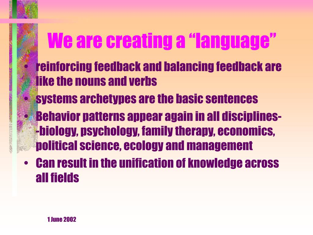 "We are creating a ""language"""
