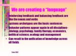 we are creating a language
