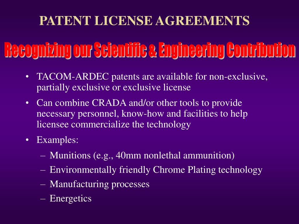 PATENT LICENSE AGREEMENTS