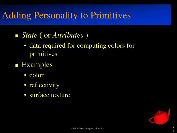Adding Personality to Primitives