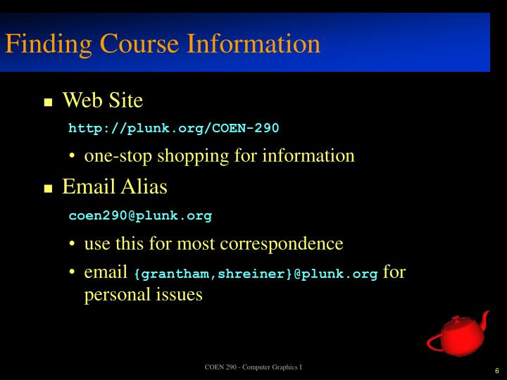 Finding Course Information