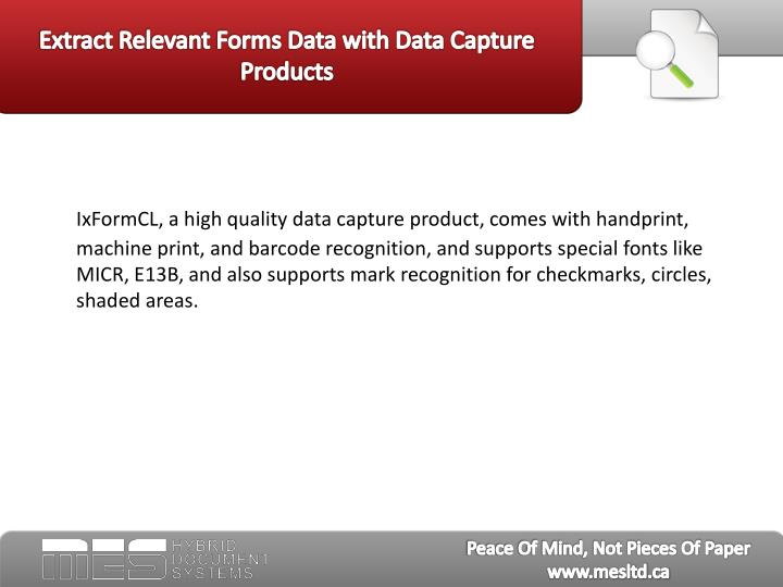Extract relevant forms data with data capture products3