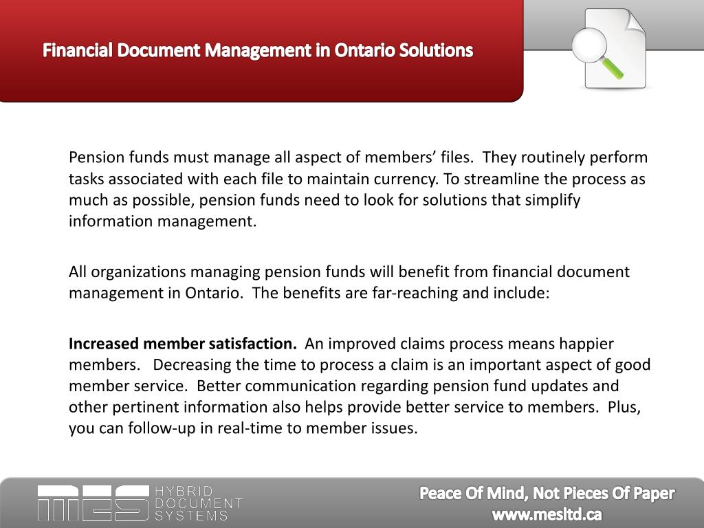Financial Document Management in Ontario Solutions