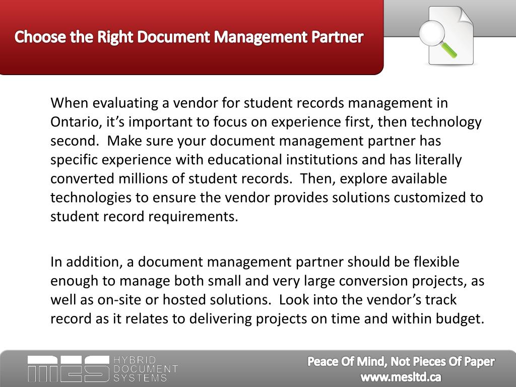 Choose the Right Document Management Partner