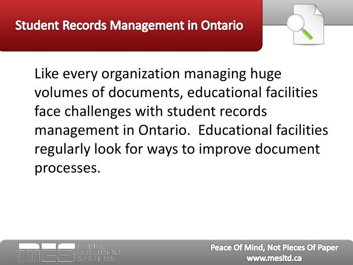 Student records management in ontario3