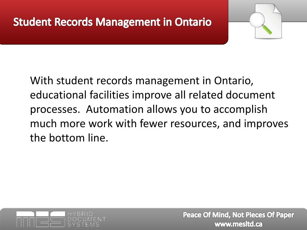 Student Records Management in Ontario