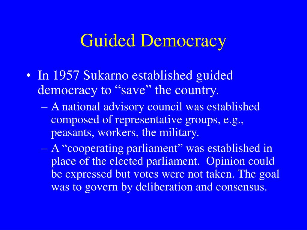 Guided Democracy