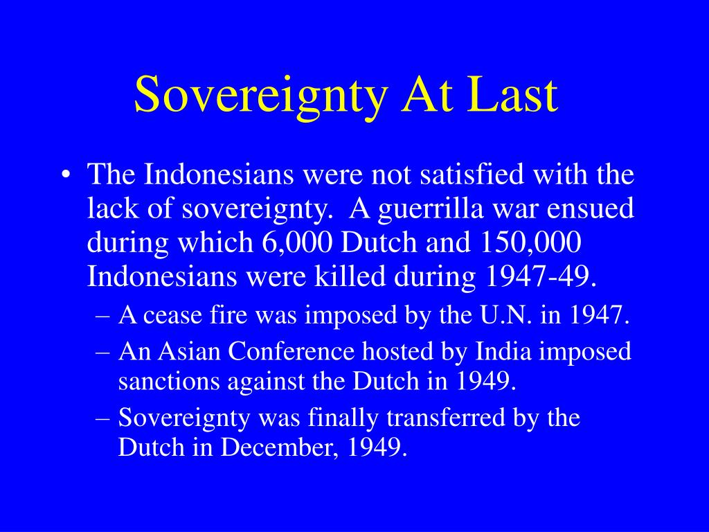 Sovereignty At Last