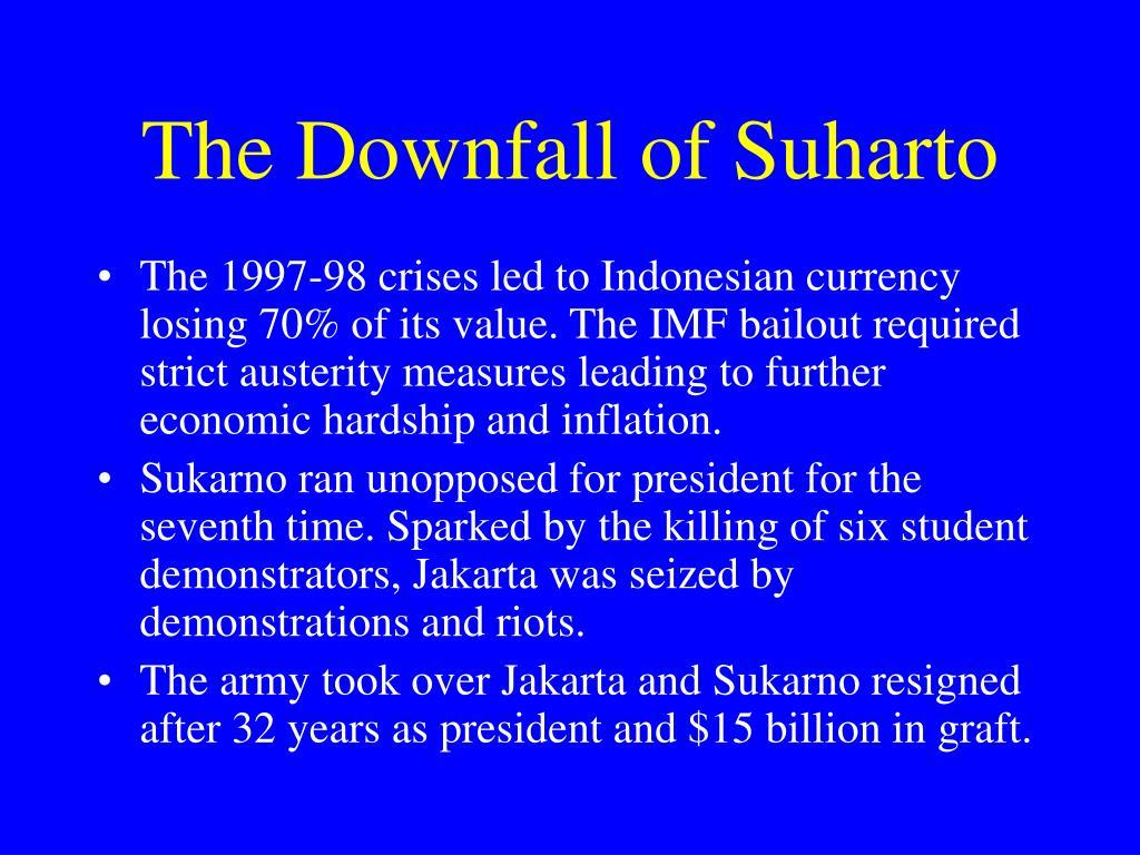The Downfall of Suharto