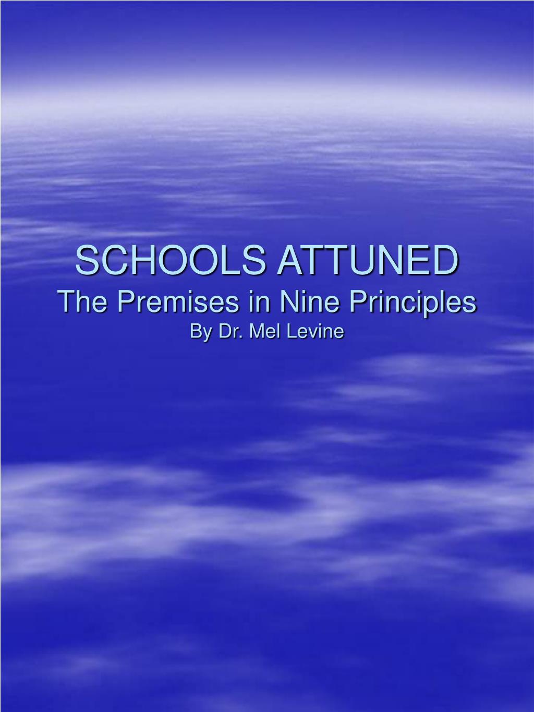 SCHOOLS ATTUNED