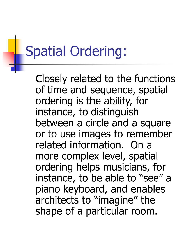 Spatial Ordering: