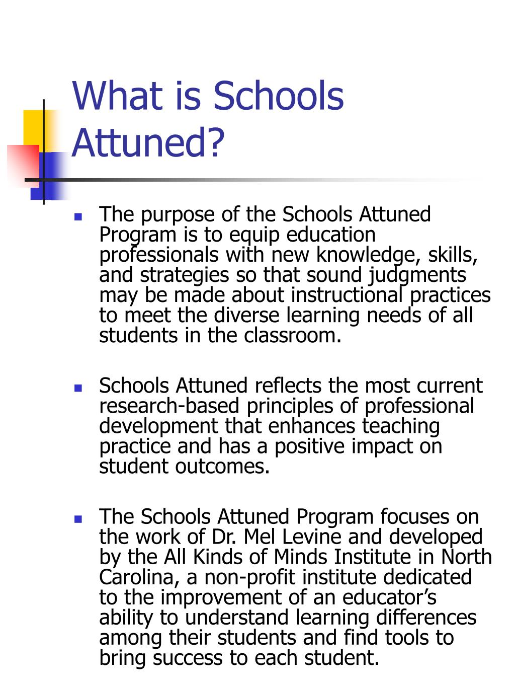 What is Schools Attuned?