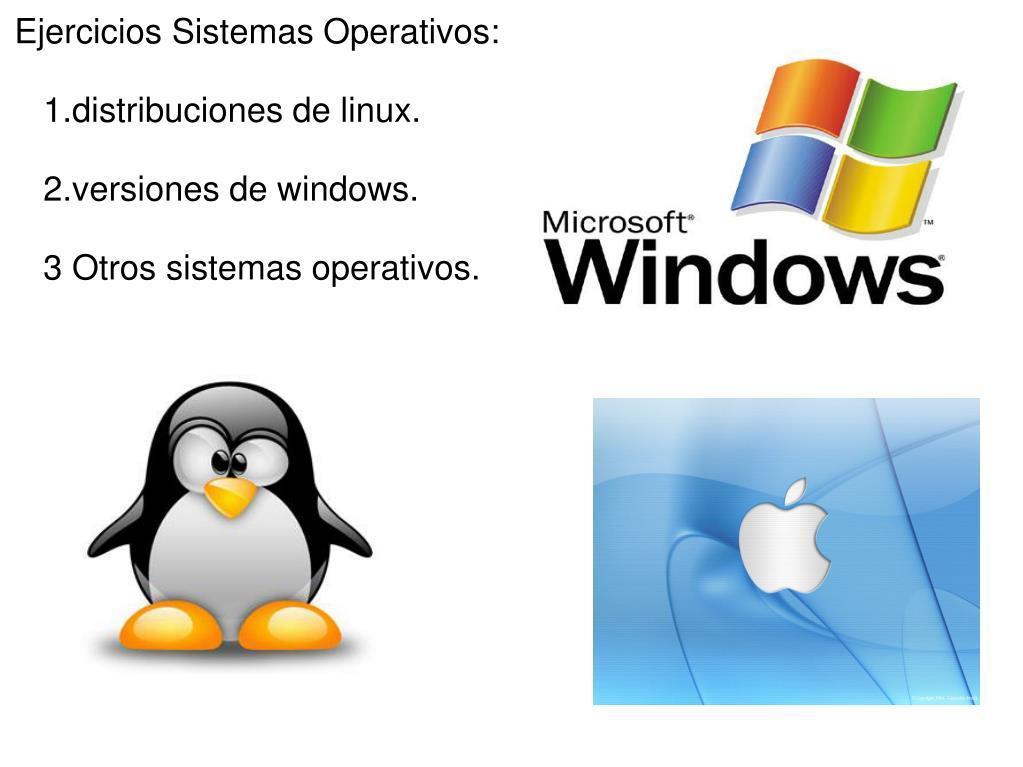 Ejercicios Sistemas Operativos: